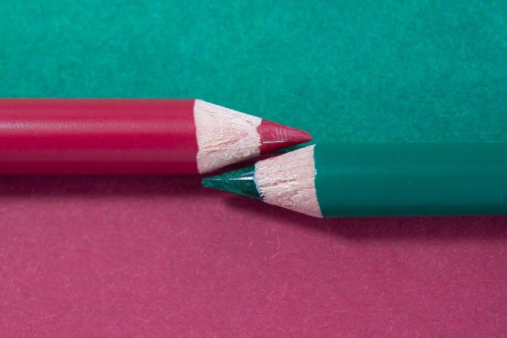 couleur complémentaire du rouge